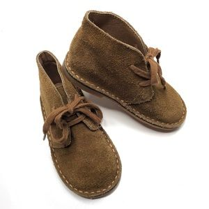 POLO by Ralph Lauren Brown Suede Leather Booties